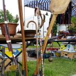 Wanderstock - Hingucker beim Flohmarkt San Zenone, Italien