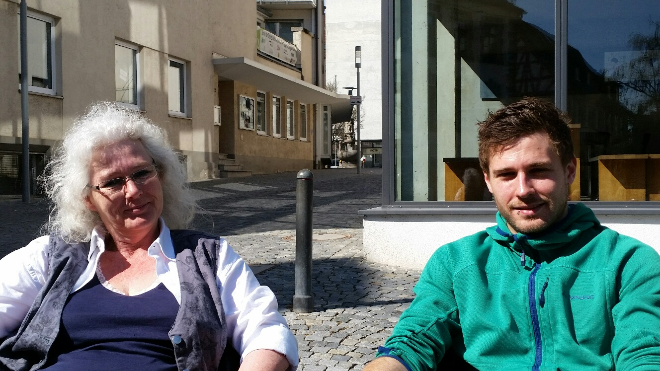 Ausflug Ulm mit Wetterglück im Cafe