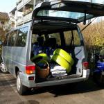 Material inklusive bemalter Reifen im Bussel - Gartendeko Reifenfrosch bepflanzt