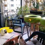 malen an allen Ecken - Gartendeko Reifenfrosch bepflanzt