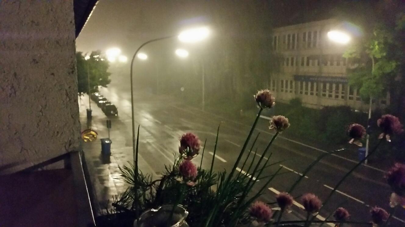 Starkregen in Konstanz heute nacht