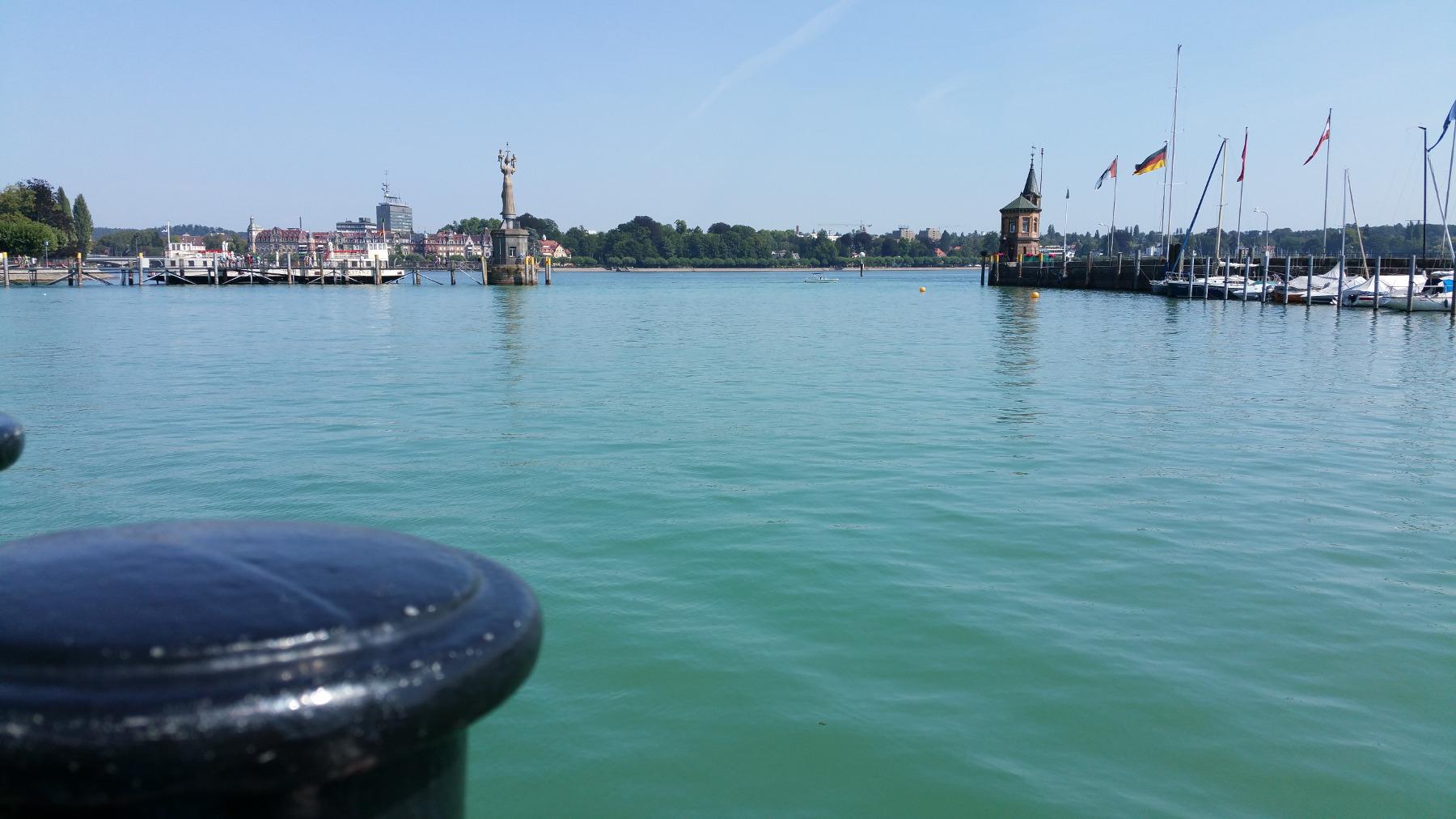 Hafen Konstanz vom See aus - Bodensee Sommer 2015