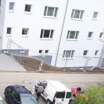 4/2013 Immernoch einige Baustellen auch nach Einzug der Mieter, nach Sanierung des ehemaligen Studiwohnheims, Wollmatinger Straße, Bundesimmobilie, Konstanz