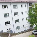 5/2013 Immernoch einige Baustellen auch nach Einzug der Mieter, nach Sanierung des ehemaligen Studiwohnheims, Wollmatinger Straße, Bundesimmobilie, Konstanz