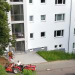 6/2013 Immernoch einige Baustellen auch nach Einzug der Mieter, nach Sanierung des ehemaligen Studiwohnheims, Wollmatinger Straße, Bundesimmobilie, Konstanz