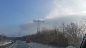 Rückweg mit 16°C Temperaturunterschied nach der Silvesterparty in der Rockfabrik Ludwigsburg zu Metal und Gothic