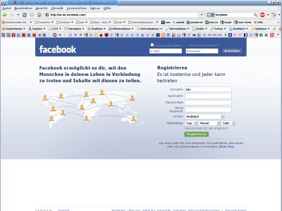 Screenshot facebook auf utele.eu