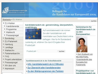 Screenshot kandidatenwatch.de
