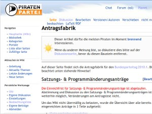 Screenshot Piratenpartei Antragsfabrik